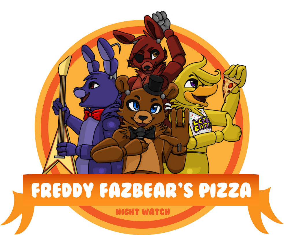 Pizza freddy logo fazbears
