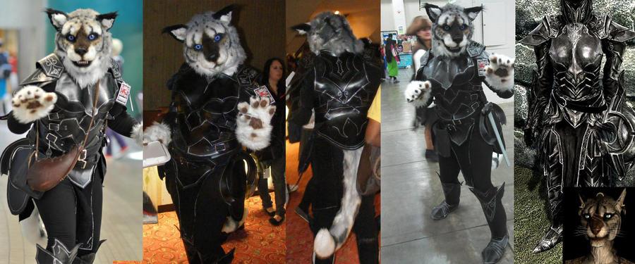 Khajiit in Ebony Armor by Plus3Defense