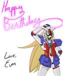 Birthday Drawing: Noble Gundam