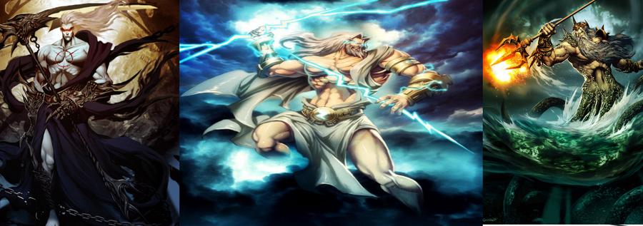 Zeus vs. Poseidon vs. Hades by - 532.7KB