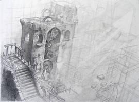 labyrinth of time. gardens WIP by Absurdostudio-Krum