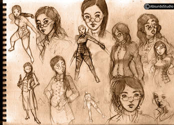 Emma Ashwood sketches by Absurdostudio-Krum