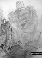 escaping the giant WIP by Absurdostudio-Krum