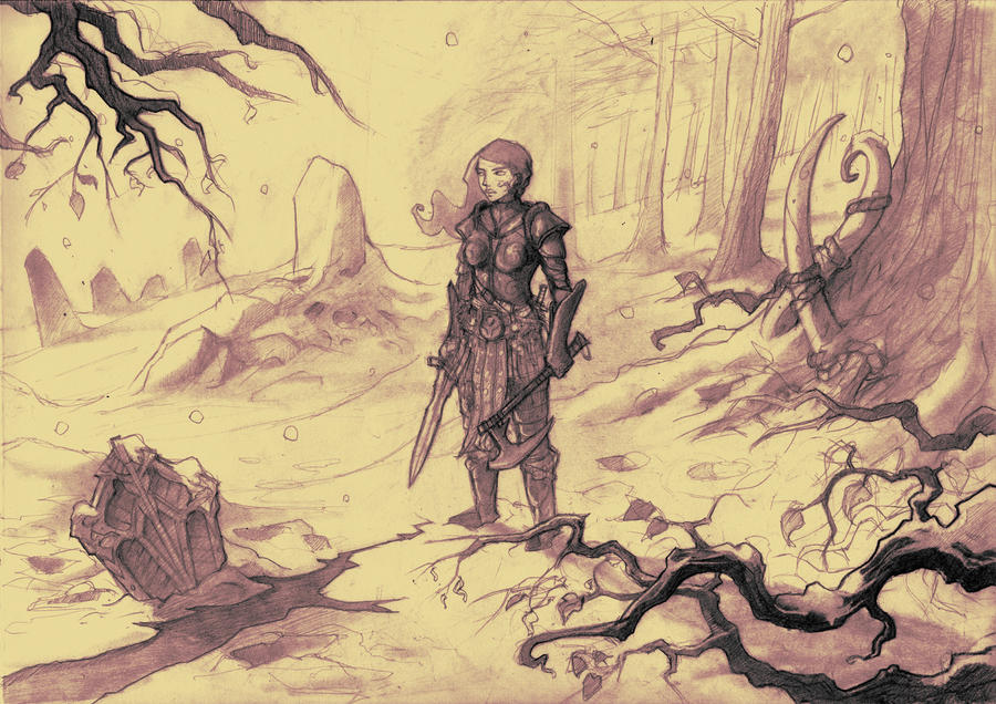 Skyrim fan art WIP by Absurdostudio-Krum