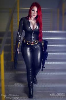 Black Widow Cosplayer Vall London