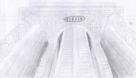 Train tunnel by MichenSneeuwhart