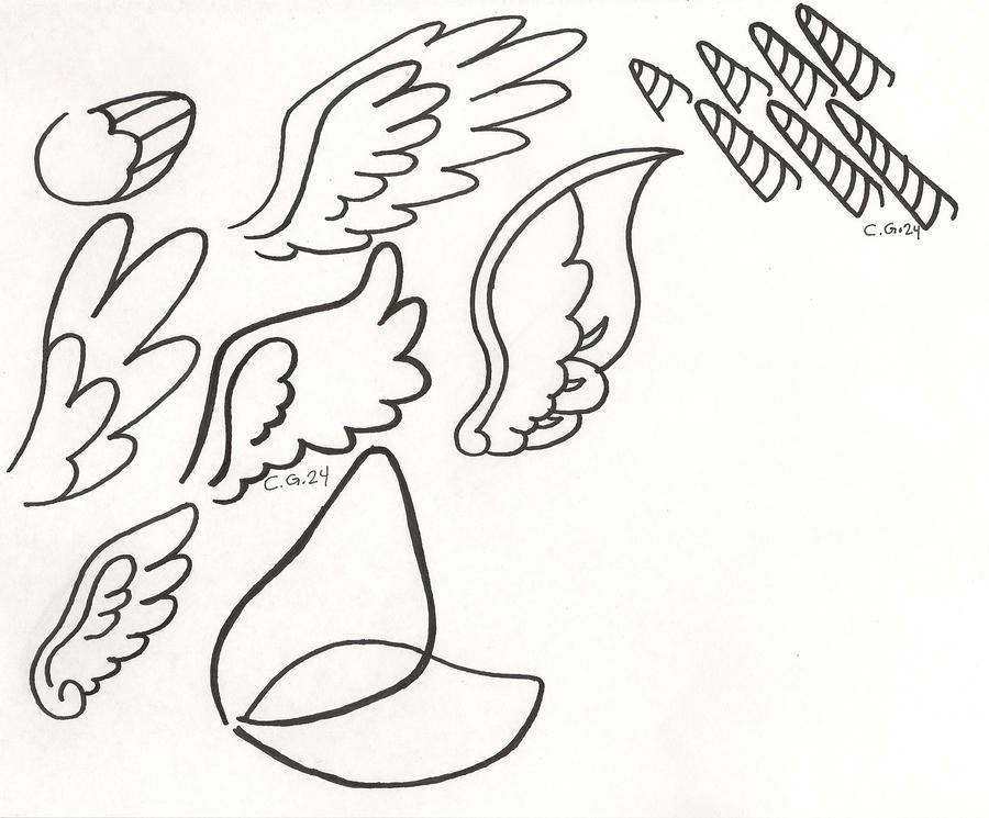 My Little Pony With Wings Coloring Pages : Pony wing and horn extras by coopergal on deviantart