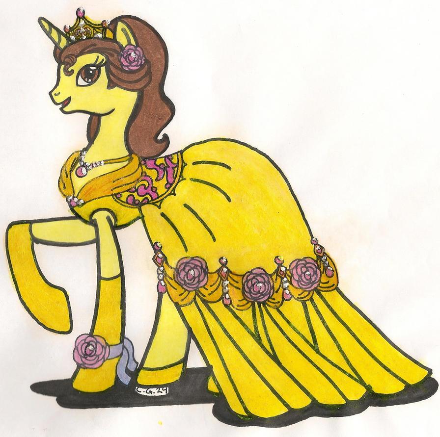 MLP:FiM Disney Princess Belle by CooperGal24