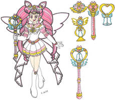 Princess Sailor Neo Moon and her Items by CooperGal24