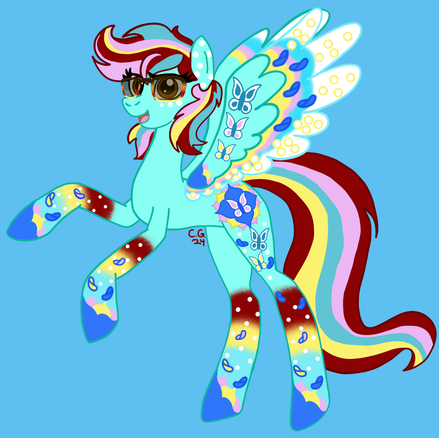 Rainbow Power Jazzie FlowerFunk Completed by CooperGal24