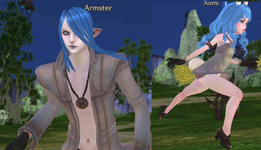 Armster and Aomi: High Elf and Elin mayhem: TERA by AomiArmster