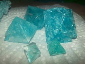 Aomi Alum Crystals as Broken Pyramids by AomiArmster