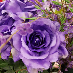 Purple Fabric Flower by AomiArmster