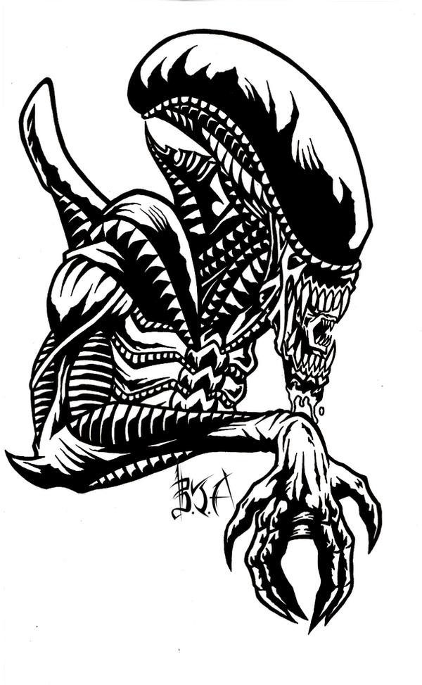 how to draw alien xenomorph