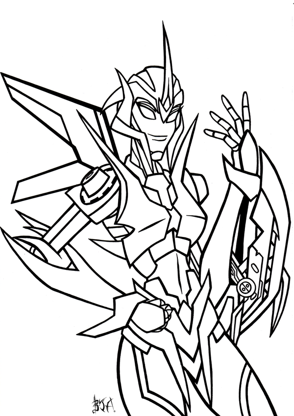 arcee transformers prime coloring pages - photo#8