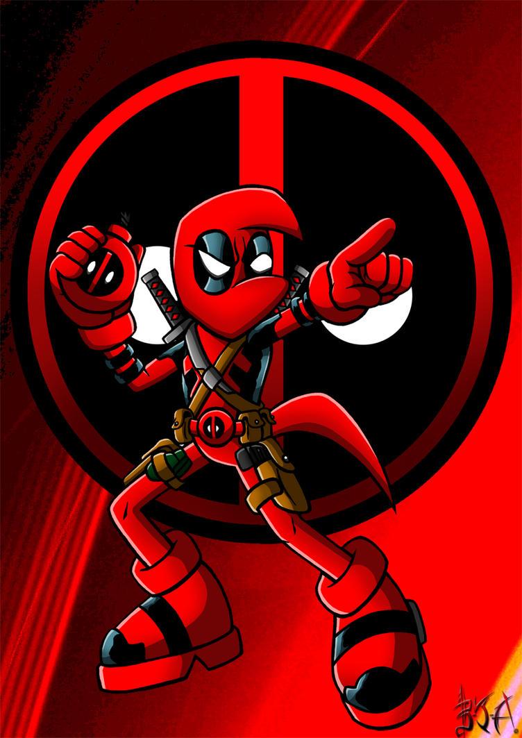 Deadpool Bean by Berty-J-A