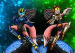 Leeta and Lyco as Jetstorm and Jetfire
