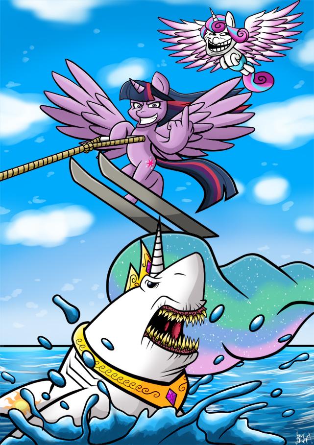 MLP Shark Jumping by Berty-J-A