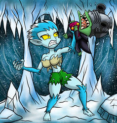 Commission: Frosty Bites vs Techno Baron by Berty-J-A