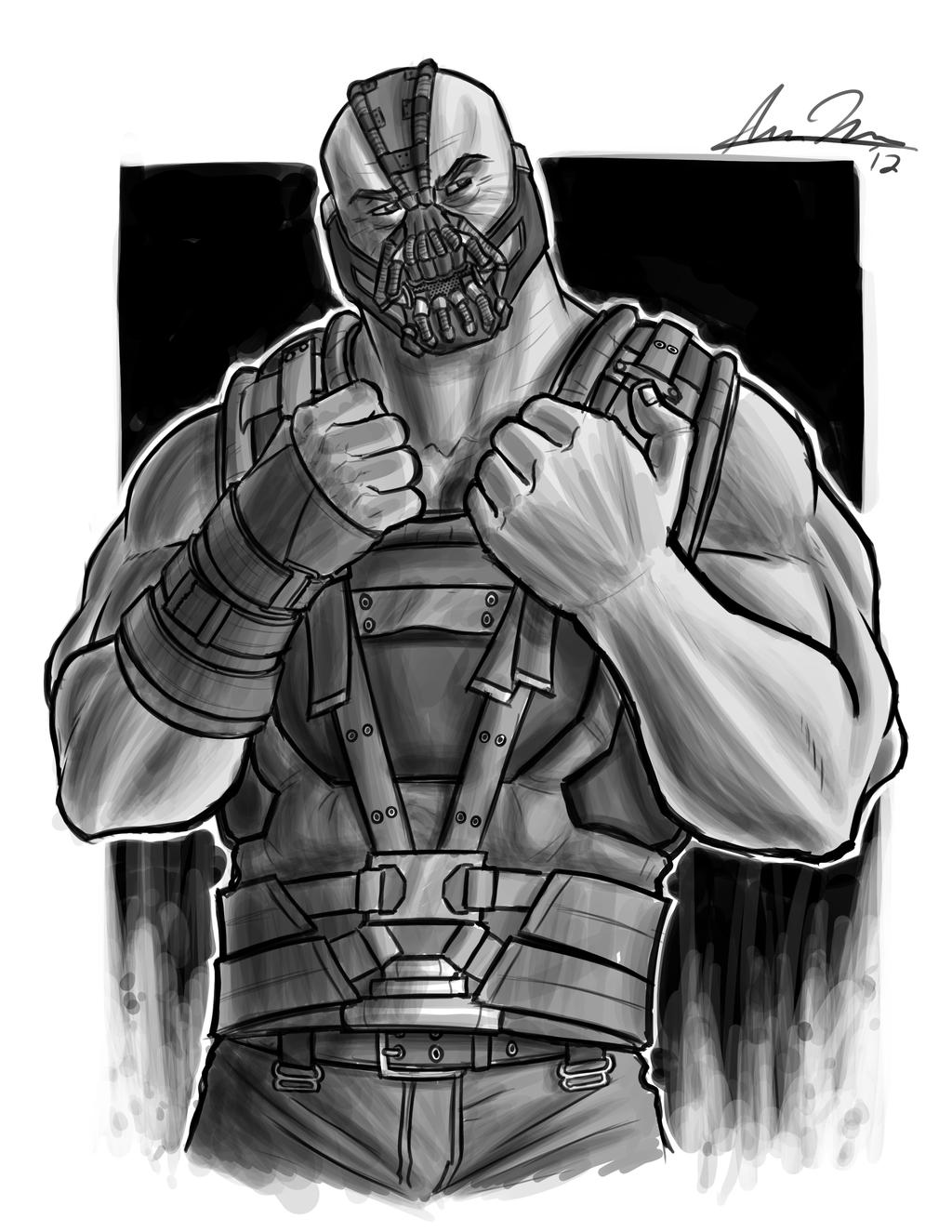 Charity Sketch: Bane by darkeblue on DeviantArt