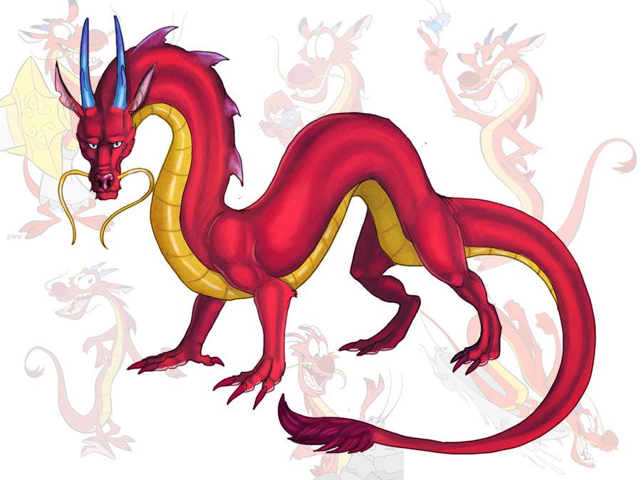 Mushu by Galidor-Dragon