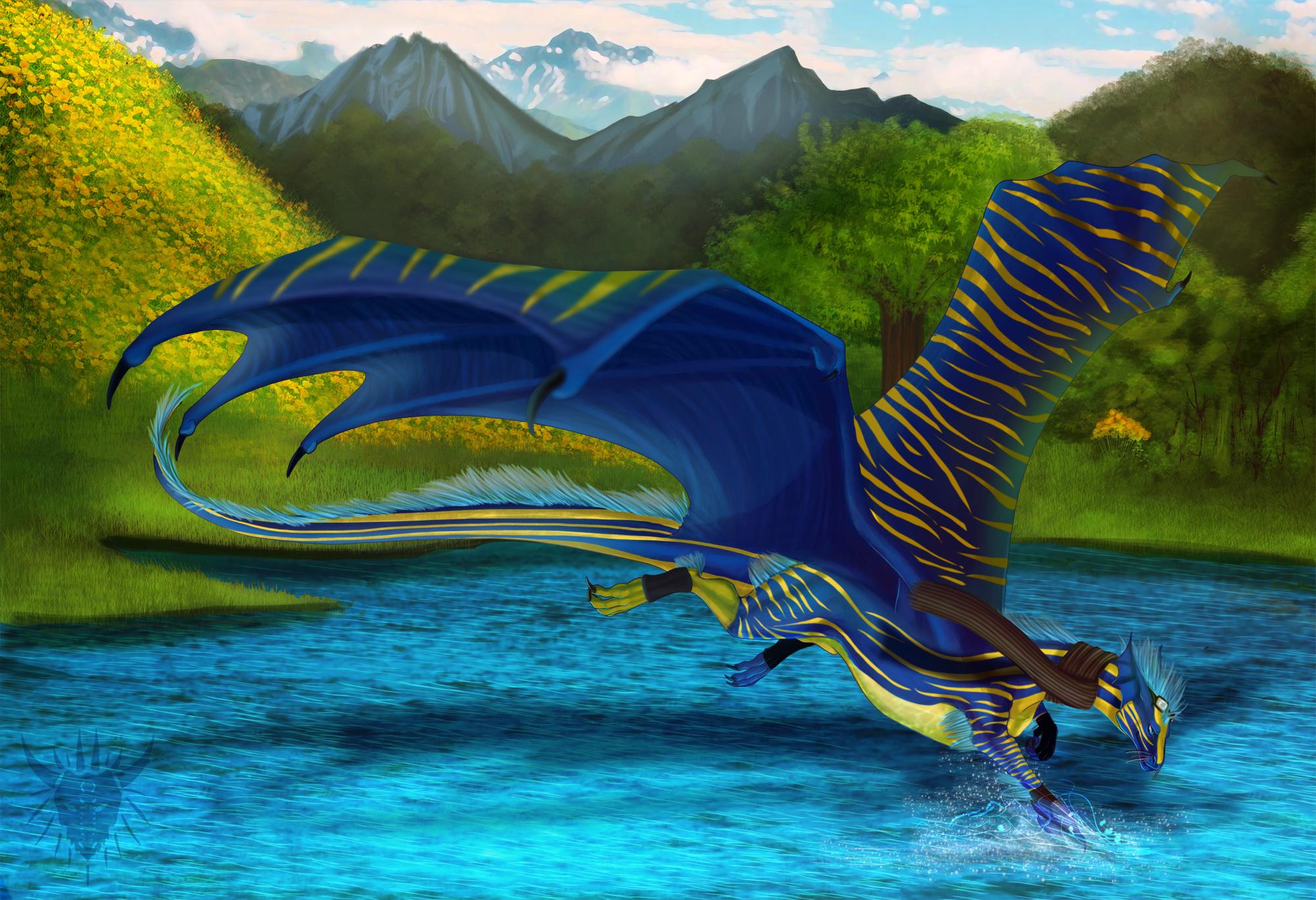 Blue by Galidor-Dragon