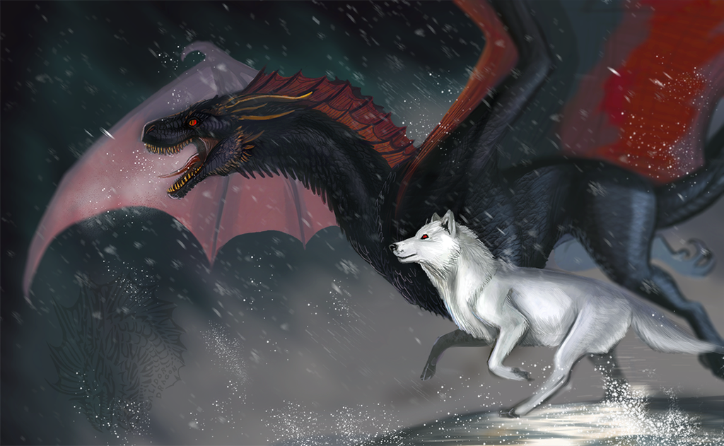 The Dragon and the Wolf by Galidor-Dragon