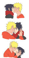 NaruSasu: Holiday Kisses by biscutpoo