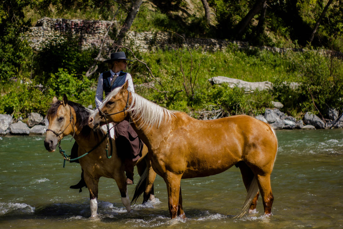 Rider on the River by lonnietaylor