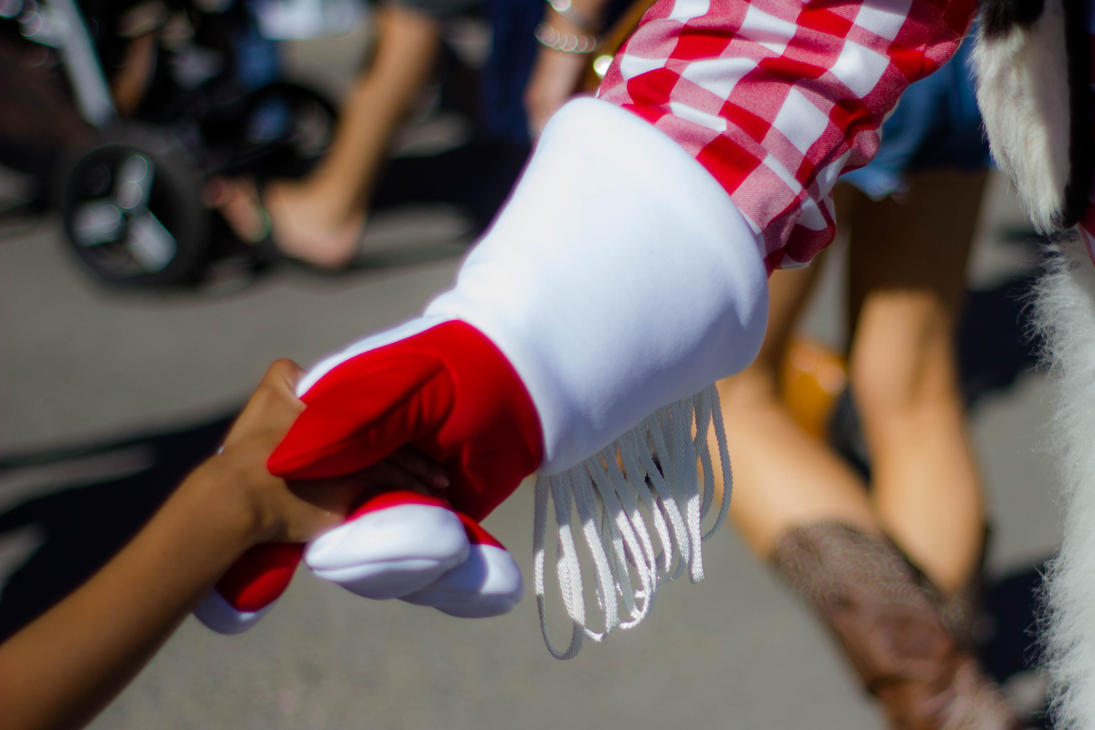 Mascot Handshake by lonnietaylor