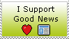I Support Good News Stamp by lonnietaylor
