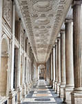 Portico Palazzo, Piazza Colonna, Rome, Italy