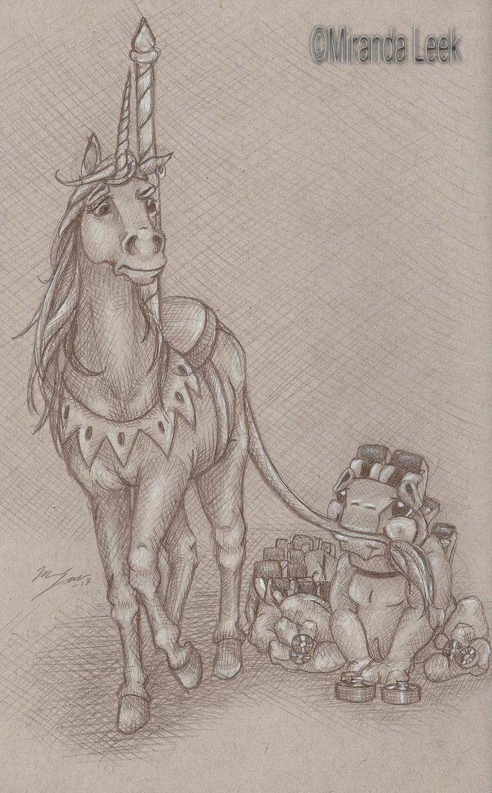 Horseplay by railrunnermiranda