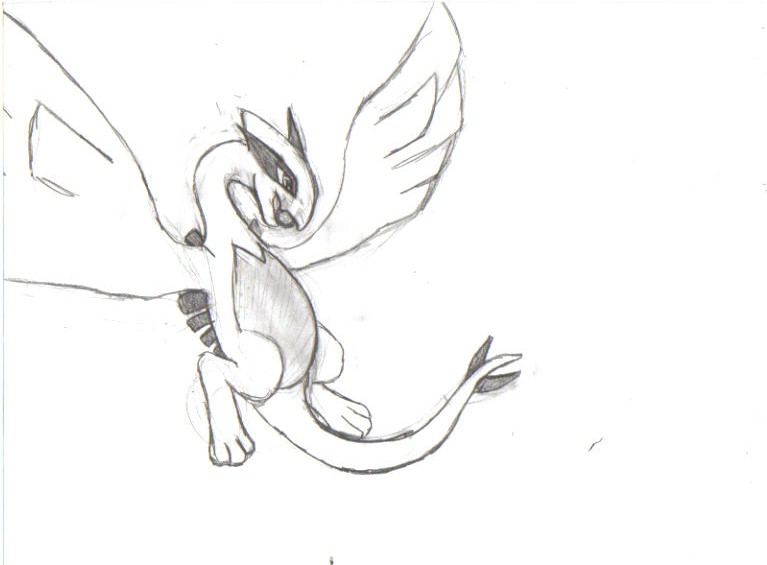 How to Draw Lugia, Step by Step, Pokemon Characters, Anime, Draw ...