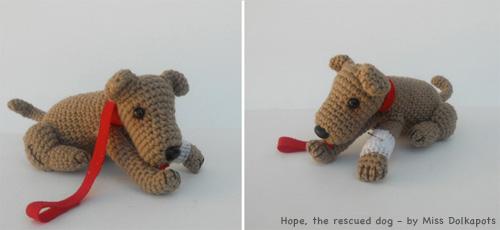 Hope, the rescued dog by missdolkapots