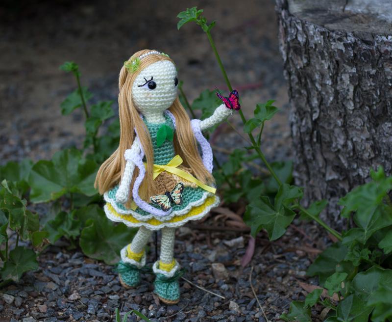 Little lady of the butterflies by missdolkapots