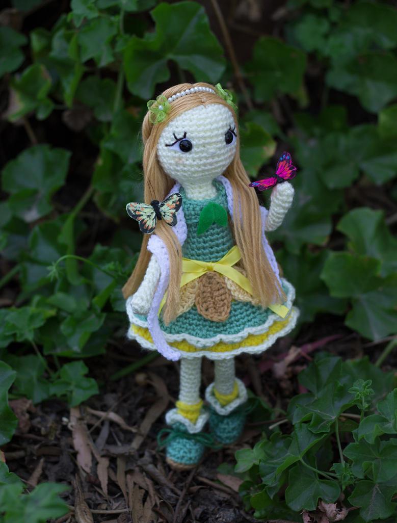 Little lady of the butterflies II by missdolkapots