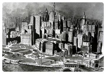 New York city BW by Zairaam