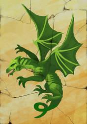 Mahjong Green Dragon by Zairaam
