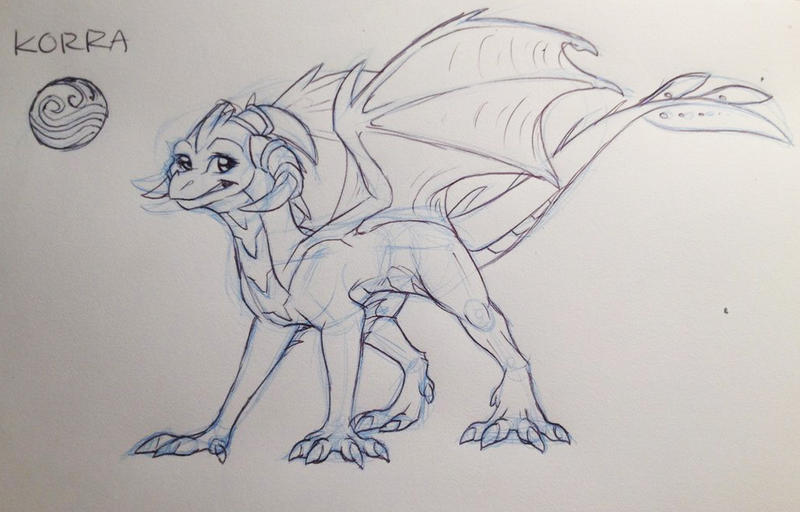 korra dragoness :D by aacrell