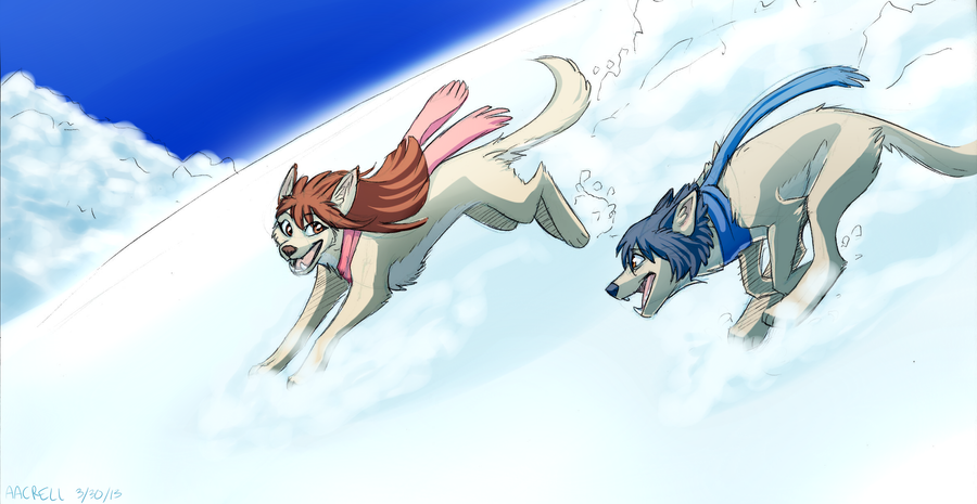 Wolf Children Ame and Yuki by aacrell