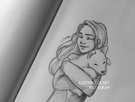 I really want a puppy... by juditmallolart