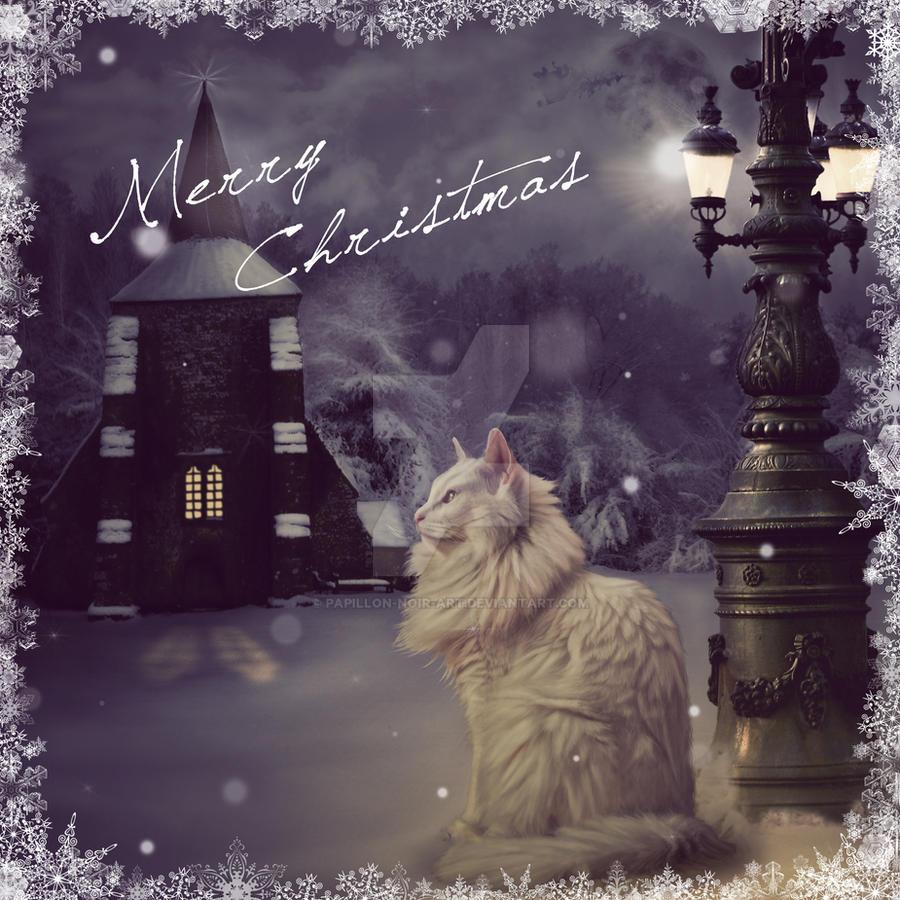 Christmas Kitty by Papillon-Noir-Art