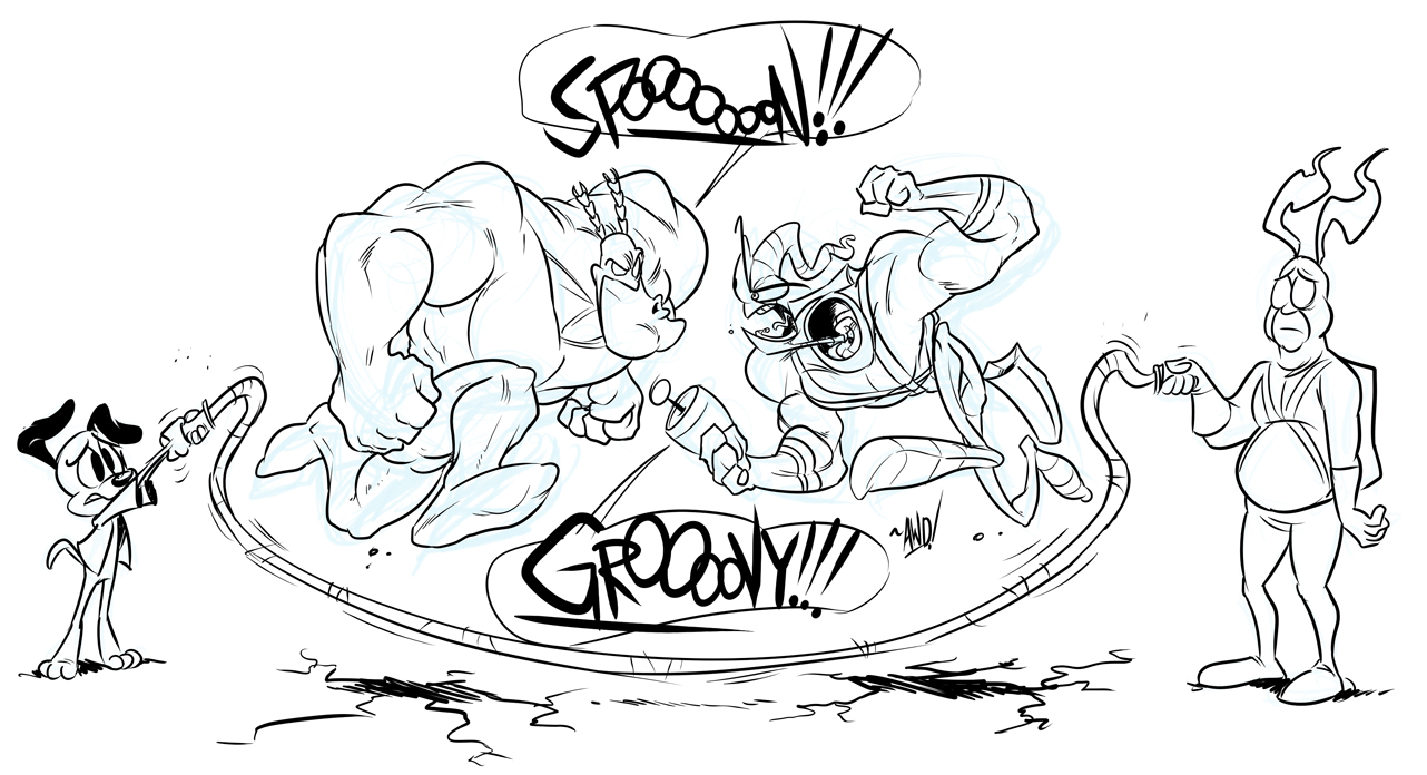 The Tick vs. Earthworm Jim by AndrewDickman