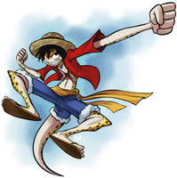 Gecko D. Luffy by AndrewDickman