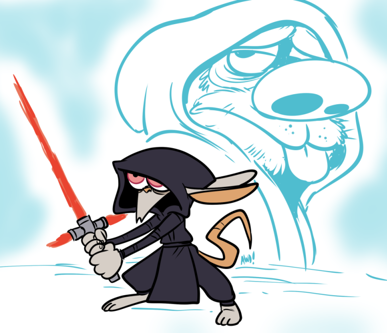 Kylo Ren and Luke Stimpwalker by AndrewDickman