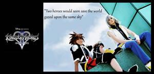 Two heroes under the same sky by Evil-Uke-Sora