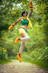 Yuffie - Jump by Evil-Uke-Sora