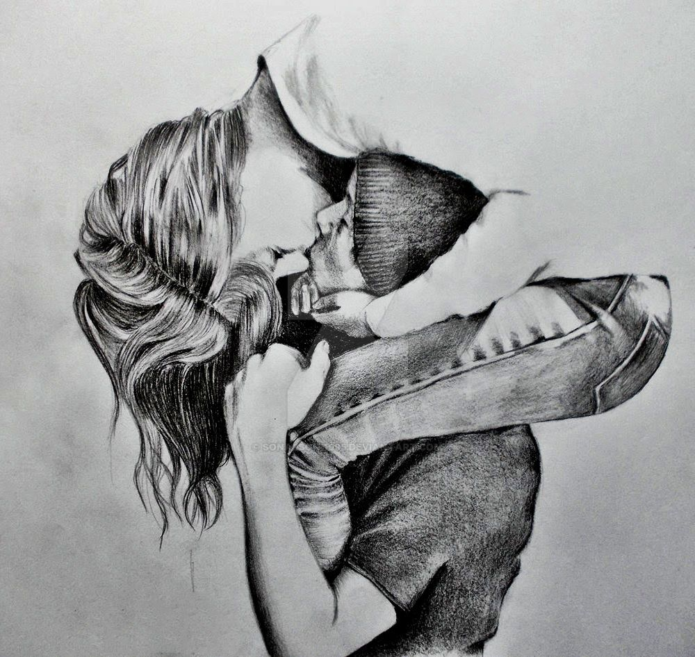 Dibujos De Enamorados A Lapiz Abrazados By Sonalsoni1995 On Deviantart