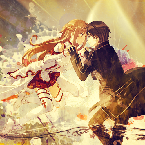 Asuna and Kirito - Sword Art Online by jonatking